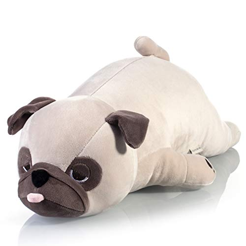 Stuffed Animal, Pug Plush Toys Animal Plush Pillow 20 Inch Stuffed Animals for Girls Boys Kids