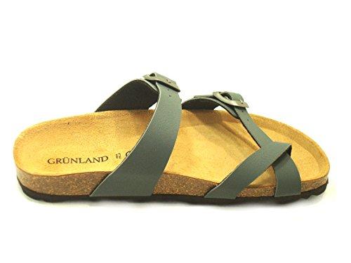 GRÜNLAND , Tongs pour femme gris gris -