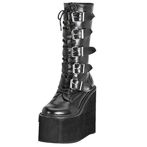 Demonia - Defining Alternative Footware Plateau Stiefel SWING-220