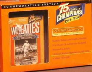 Wheaties 75 Years of Champions 1924-1999 Commemorative Edition Babe Ruth Mini-box (Babe Mini)