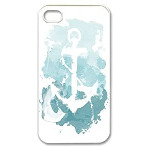 Jumphigh Not The Anchor But The Design With Something In The Middle Is A Good Idea IPhone 4/4s Cases, Scratch Resistant Iphone 4 Cases For Teen Girls {White}