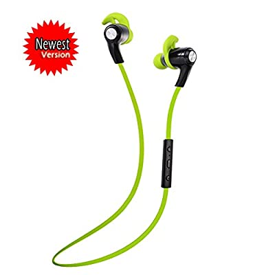 "SNEER ""iSport"" Series X-BlueBud Premium 2014 Newest Mini Wireless Bluetooth Headset Stereo Sports/Running & Gym/Exercise Bluetooth Earbuds Headphones Headsets w/Microphone for Iphone 6 plus 5S 5C 4S 4, Ipad 2 3 4 New iPad,iPad Air Ipod, Android,Samsung Ga"