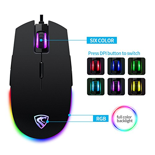 Gaming Mouse Glides Quickly and Accurately