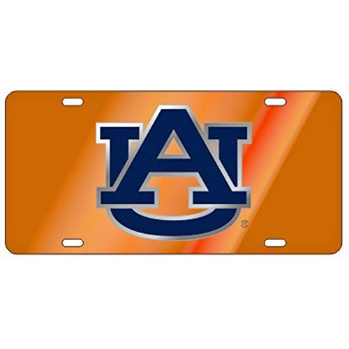 Auburn Tigers Orange Laser Cut License Plate by Craftique