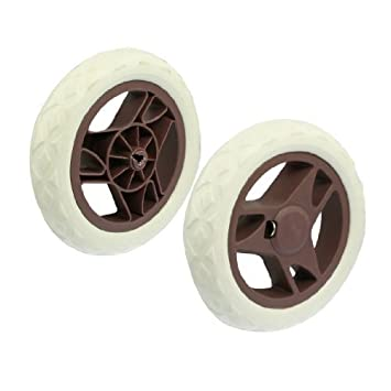 Amazon.com : a12082000ux0118 Forma de abanico Core Cochecito Carrito de la compra Cartwheels, Marrón, Blanco, 2 piezas : Baby