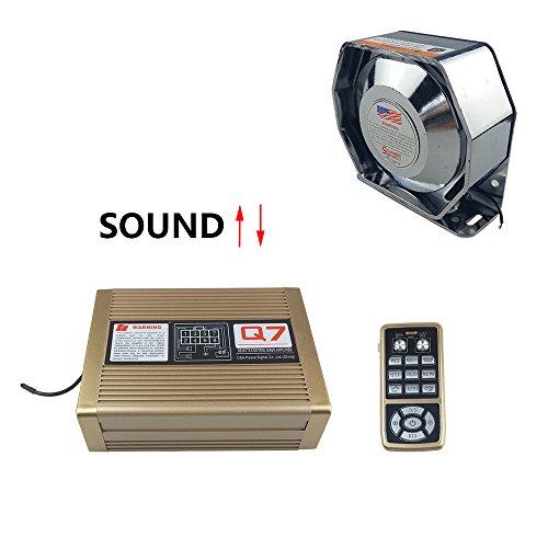 Police Siren 200Watt Car Amplifier with Siren Speaker ,Police Ambulence fire cars Warning Siren SoundAlert Electronic Wireless remote control Microphone Loudspeaker Emergency Horn Sound PA System