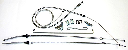 (A-2-3) Compatible With 1970-71 E-body Cuda W/inner E Emergency Parking Brake Cable Set Kit OE BSH7001 ()