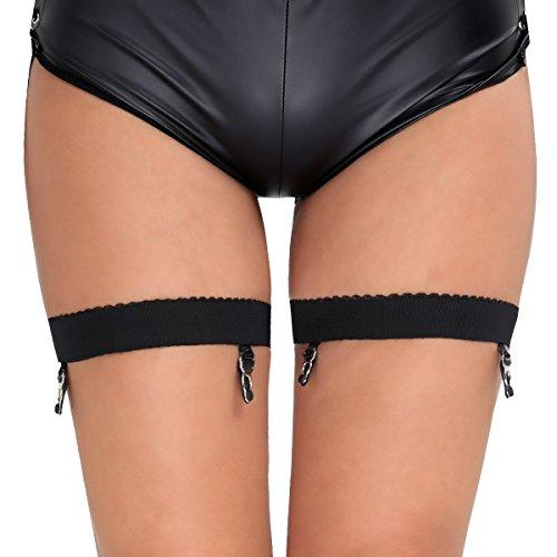 YiZYiF Women Anti-Slip Elastic Stocking Garter Belt Suspender with Clips Large -