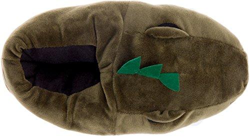 Pantofole Di Dinosauro Argento Lilly - Ciabatte T-rex Con Supporto In Memory Foam