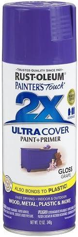 Rust Oleum 249113 Painter S Touch 2x Ultra Cover 12 Oz Gloss Grape Spray Paint Pink Amazon Com