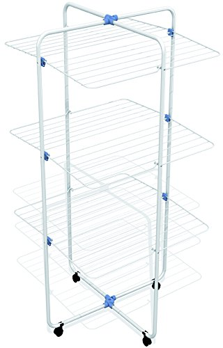 Gimi Vip 3 Turm-Wäscheständer aus Stahl, 30 m Trockenlänge