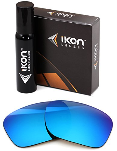 Polarized IKON Replacement Lenses for Electric Swingarm XL Sunglasses - Ice Blue Mirror