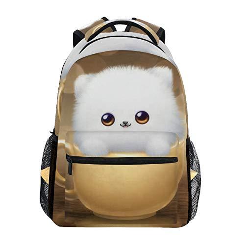 Women/Man Canvas Backpack Special Cat Kawaii Zipper College School Bookbag Daypack Travel Rucksack Gym Bag For Youth