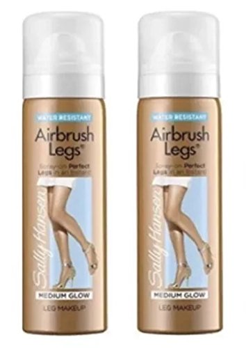 Sally Hansen, Airbrush Legs, MEDIUM GLOW, Travel Size 1.5 Oz (2 Pack) by Airbrush Legs