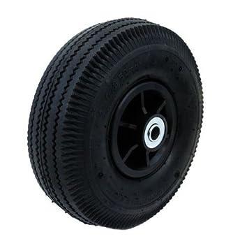 """(2) 10 """"aire ruedas neumáticos de repuesto para rueda de carretilla de"""