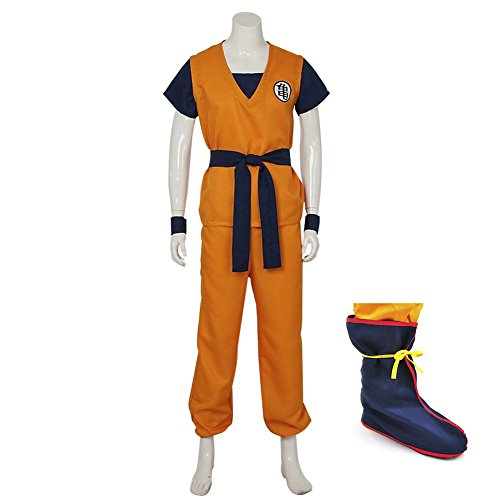 Cosplay Costume Anime Dragonball Z Adult Son Goku Halloween Suit (M, Goku) (Goku Costume Adult)