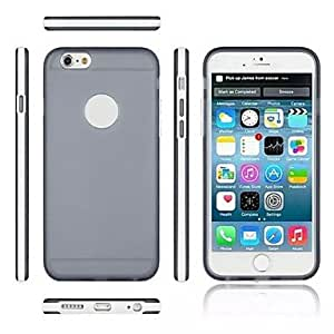 LCJ Ultrathin Transparent Silicone Back Case for iPhone 6 (Assorted color) , Blue