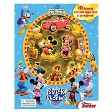 Mickey Mouse Clubhouse STUCK ON STORIES Storybook and Playset