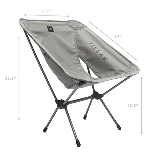 Tillak Sitka Camp Chair U2013 An Ultralight, Portable, Compact Folding/Collapsible  Chair, Perfect For Camping, Lightweight Backpacking And Beach Lounging, ...