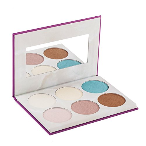 Multi Use Makeup Palette - Maúve 6 Colors Highlight Spotlight Eyeshadow Blush Makeup Palette MU14