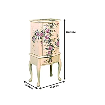 Coaster Traditional Off-White Hand Painted Jewelry Armoire