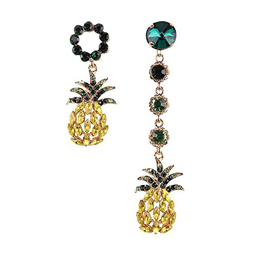 Vinty Jewelry Mismatched Pineapple Dangle Earrings For Women