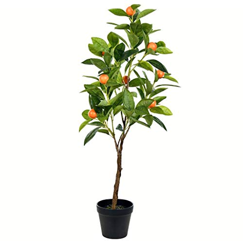 Vickerman Orange Everyday Potted Tree, 29.5, Green