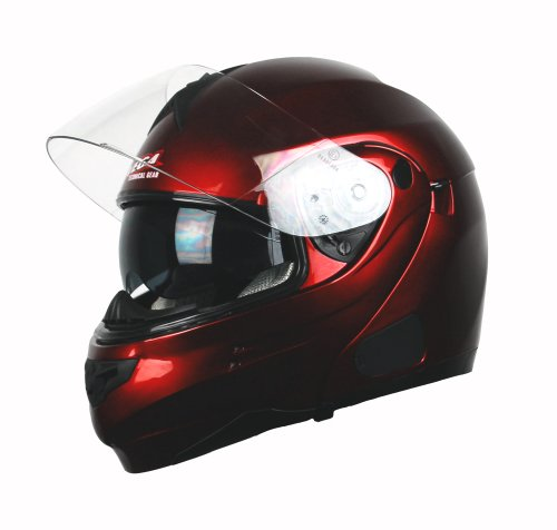 Candy Helmet Red Modular - Vega Summit 3.0 Full Face Modular Helmet (Candy Red, XX-Small)