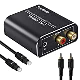 DAC Converter -Techole Aluminum 192KHz Digital/Toslink to Analog RCA L/R Audio Converter Adapter with Optical Cable, Coaxial Cable, USB Cable Powered For PS3 PS4 Xbox 360 HDTV Blu-ray Sky HD Apple TV