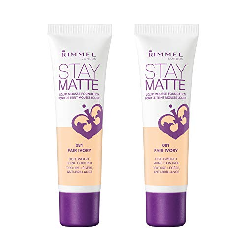 Rimmel Stay Matte Foundation, Fair Ivory, 2 Count ()