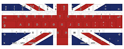 HRH British Flag Union Jack Pattern TPU Keyboard Protector Cover Skin for New MacBook Pro 13 15 Retina Display with Touch Bar A1706 A1707 (2016 Oct. Release) European Layout -