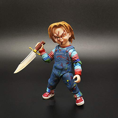 TIKIDA Good Guys Child's Play Scary PVC Action Figure Toys Dolls Collectible Model Toy Horror Doll Halloween Must Have Tools Unique Gifts The Favourite Anime Superhero LOL ()