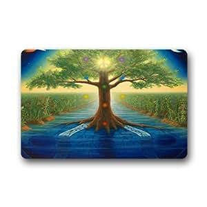 """Custom Tree of life Doormat Outdoor Indoor 23.6""""x15.7"""" about 59.9cmx39.8cm"""