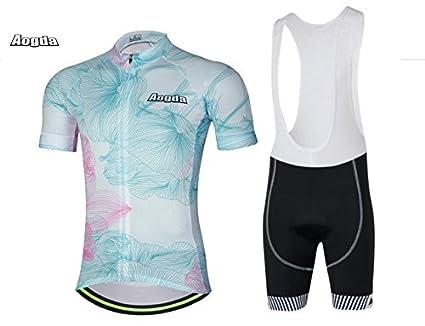 e79d09569 Aogda Men Cycling Jerseys Short Sleeve Bicycle Clothing Shirts Bib Shorts  Riding Bike Sportwear Jacket Shirts