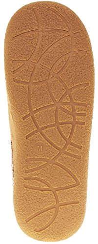 Floopi Womens Indoor Outdoor Aztec Trim Fleece Gevoerde Klomp Slipper W / Memory Foam Beige-303