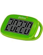 Pulox Stappenteller pedometer PS-100 eenvoudig met 3D-sensor in groen