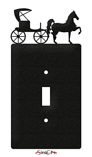 SWEN Products HORSE AND BUGGY AMISH Wall Plate Cover ()
