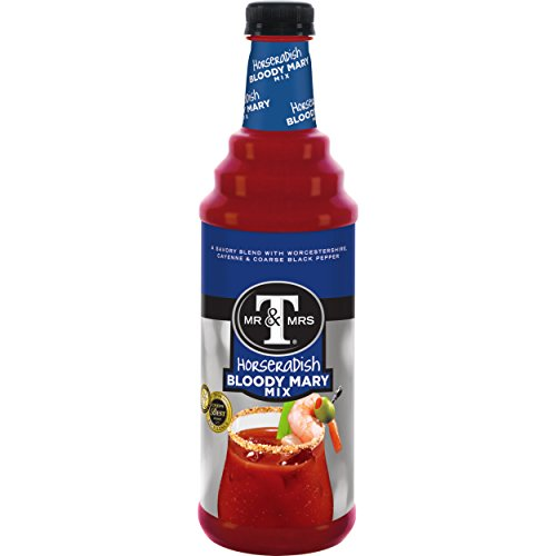 Mr & Mrs T Horseradish Bloody Mary Mix, 1 L bottles (Pack of 12)