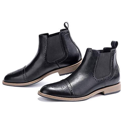 men s chelsea boots cap toe semi
