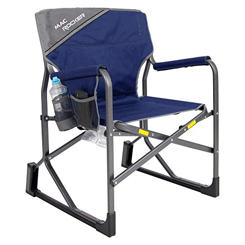 Mac Sports MacRocker Outdoor Foldable Rocking Chair   Portable Rocking Chairs for Adults, Collapsible, Springless Rust-Free Anti-Tip Guards for Camping Fishing Backyard   Weight Capacity up to 225 lbs