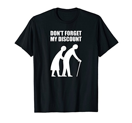 Senior Citizen Discount Elderly Old People Funny TShirt Gift for $<!--$19.99-->