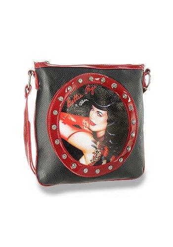Bettie-Page-Rockabilly-Rhinestone-Accent-Faux-Leather-Cross-Body-Sling-Handbag