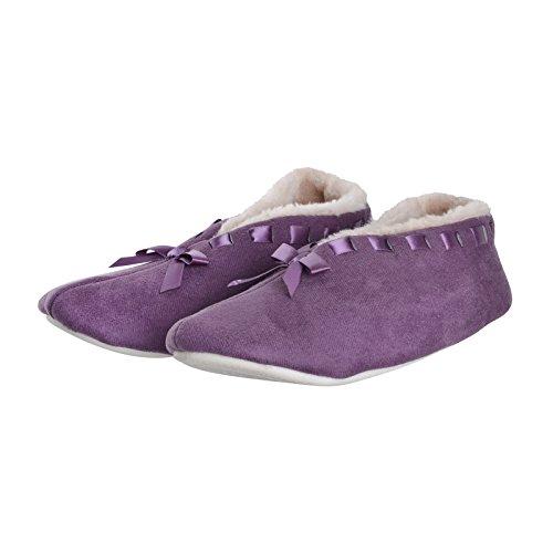 SlumberzzZ - Zapatillas de estar por casa para mujer morado
