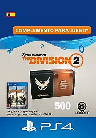 Tom Clancys The Division 2 - Pack de 500 créditos premium - 500 Credits DLC | Código de descarga PSN - Cuenta española: Amazon.es: Videojuegos