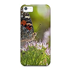 Premium CFBudwW5903KSSGd Case With Scratch-resistant/ Beautiful Butterflies 04 Case Cover For Iphone 5c