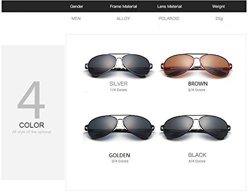 Tonos Hombres de Retro de diseñador Gafas Gafas JCH Silver Vintage de Gafas Marca aviación polarizadas Sol Accesorios Sol para awF54FqT