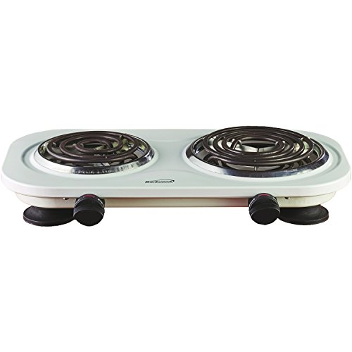 Brentwood TS-321W 1000w Single Electric Burner, White by Brentwood