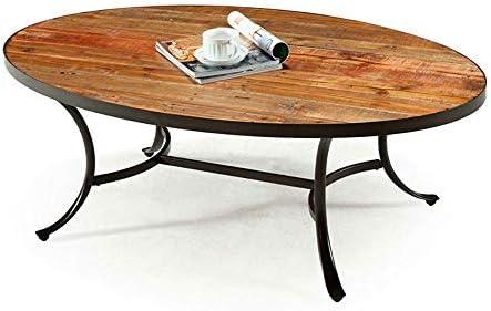 Mesa de centro ovalada para sala de estar, mesa de cóctel rústica ...