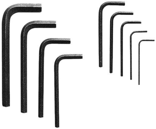 Allen 56015 Short Arm Metric Hex Key Set, (9 Piece Metric Short)