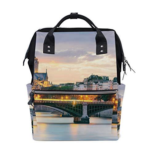 Notre Dame Paris Diaper Bag Mummy Dad Tote Backpack Travel School Boy Girl Large